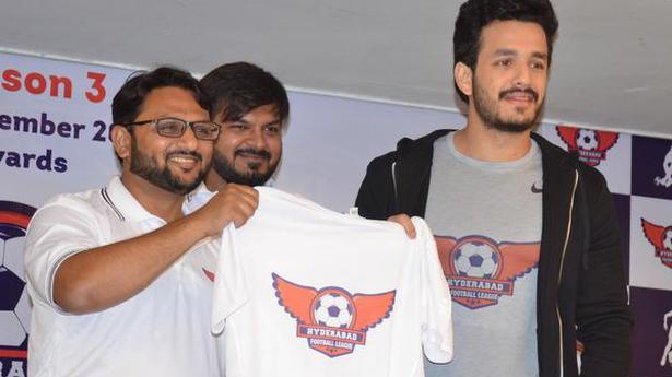 Akhil is brand ambassador of Hyderabad Football League