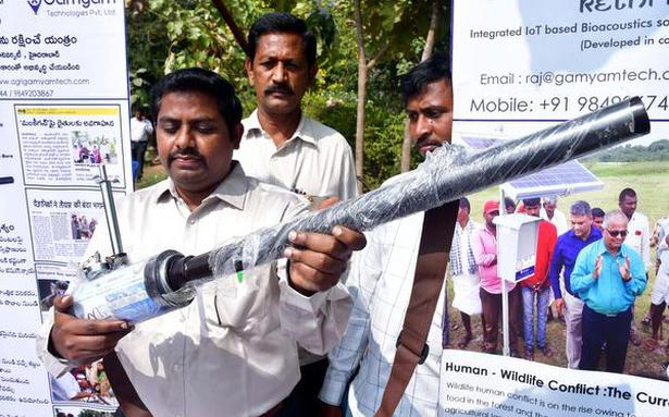 Innovative devices to ward off wild animals damaging crops