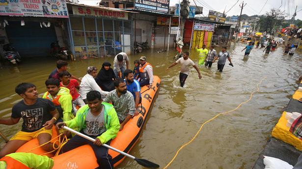 Hyderabad floods | Telangana seeks immediate aid of ₹1,350 crore - The Hindu