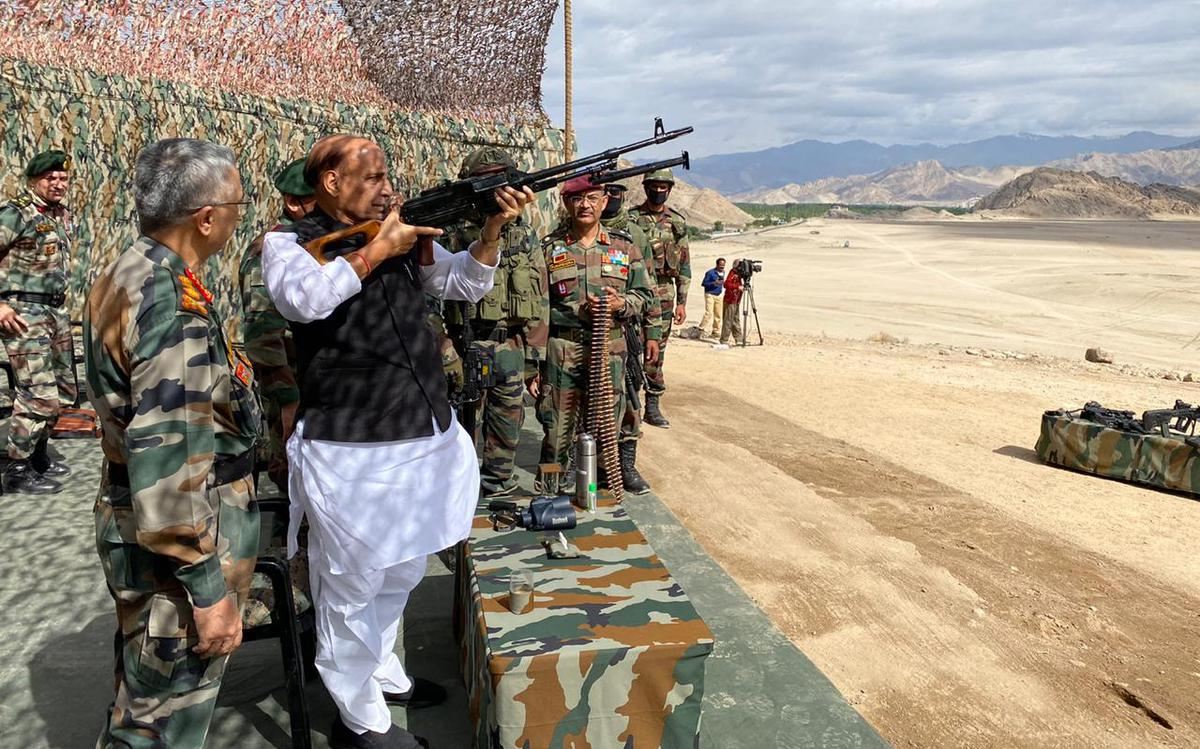 LAC standoff | No one can touch an inch of India's land: Rajnath ...