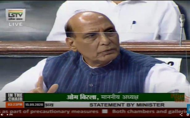 Parliament proceedings live | Peace and tranquility along LAC have impact on India-China bilateral relations: Rajnath Singh - The Hindu
