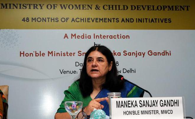 Minister for Women and Child Development Maneka Gandhi. File