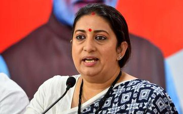 Cong most corrupt party; vote for BJP to continue to avail centre and state schemes: Smriti Irani