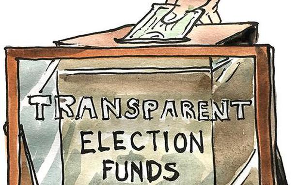 Image result for images of donations to political parties in india