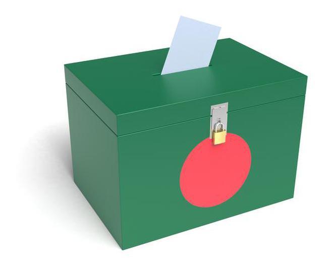 Bangladesh Flag Ballot Box. 3D Rendering.