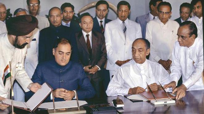 Image result for India-Sri Lanka Accord 1987