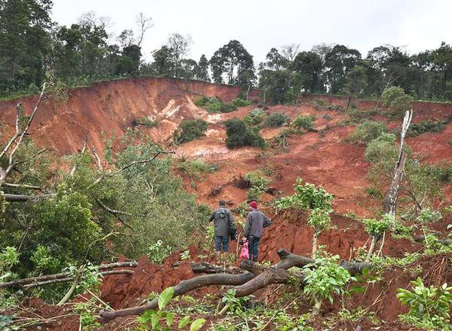 """A forest­depleted Kodagu basin will have reduced capacity to capture and store rainwater."" It is a picture of destruction in Hattihole near Somwarpet, Kodagu, after the floods."