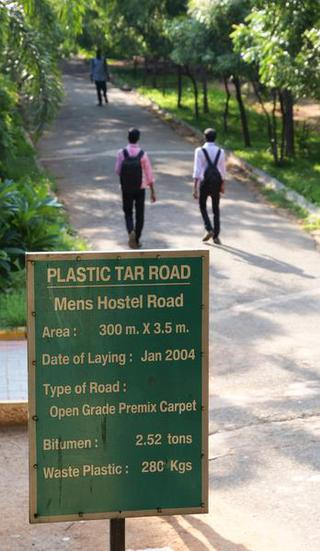 Plastic Man of India encourages a better plan for plastic