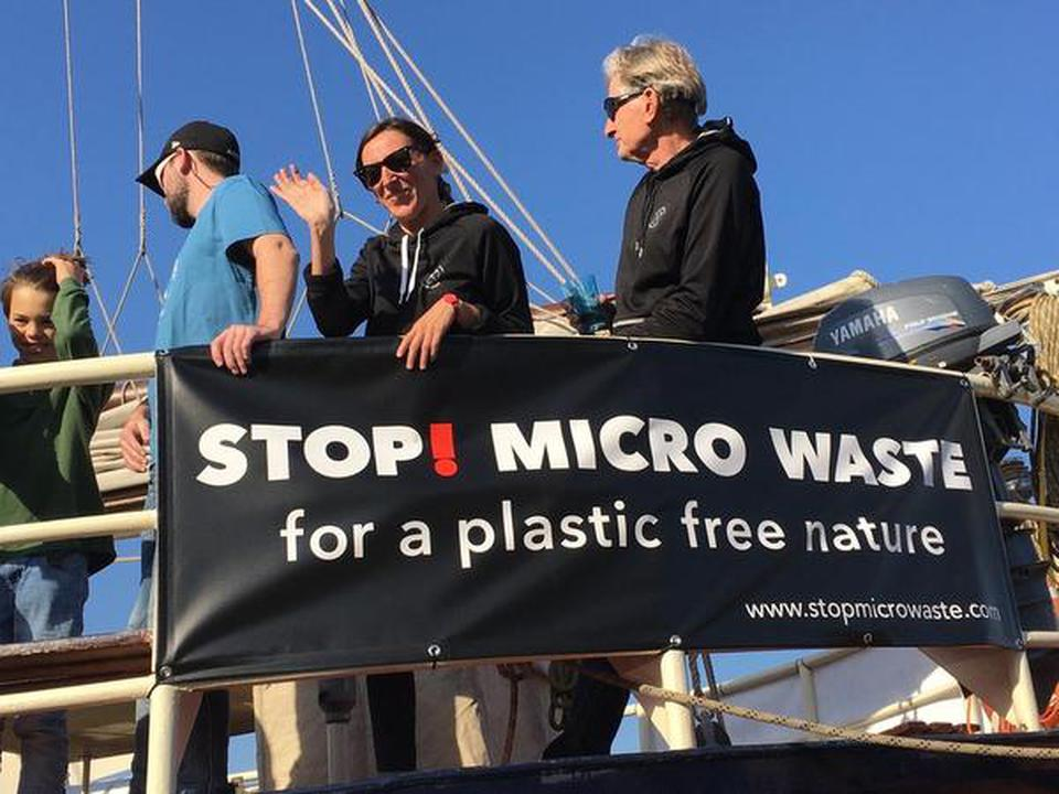 File photo of an event to raise awareness about micro pollution.