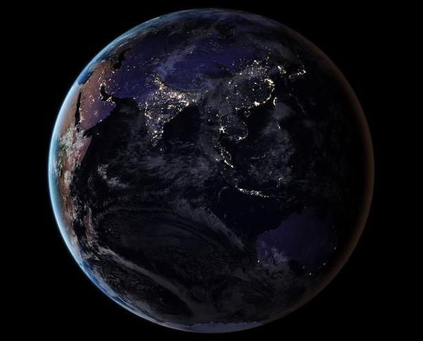 NASA images show how India looks from space at night  The Hindu