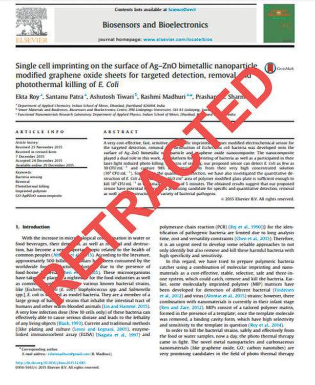 Journal Retracts 16 Year Old Paper >> 127 Papers From India Retracted For Image Duplication