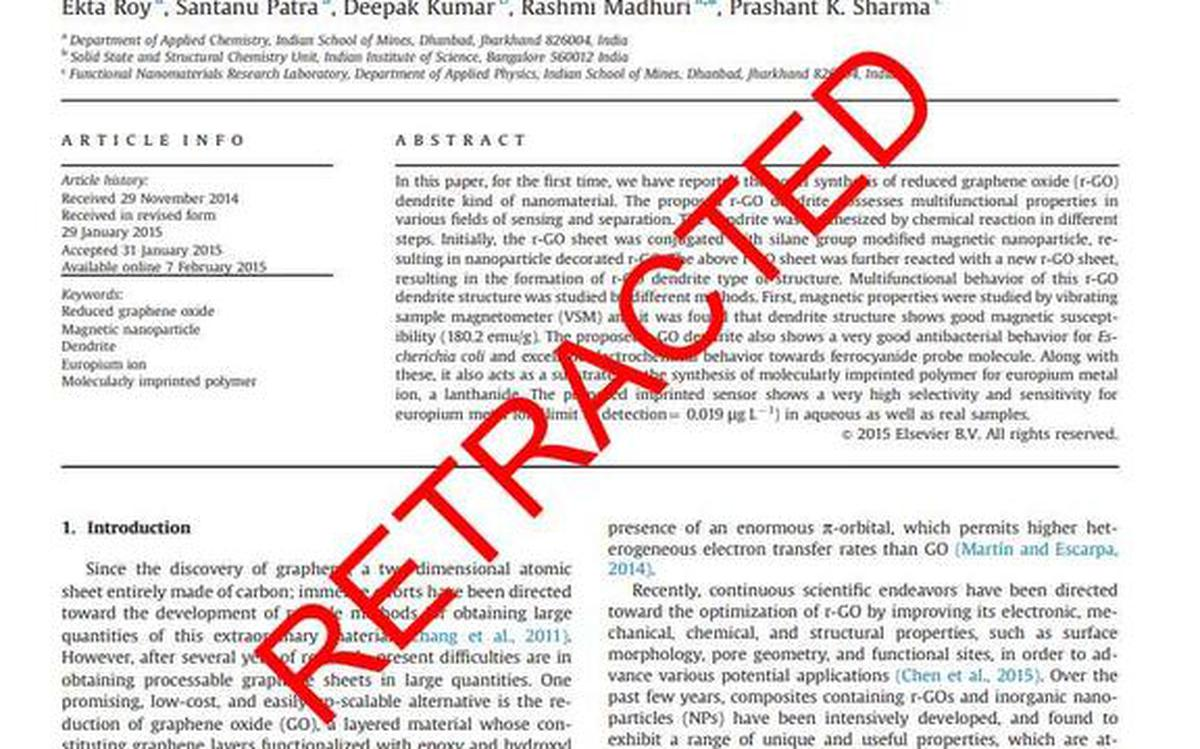 Journal Retracts 16 Year Old Paper >> Two Dozen Papers By Iit Dhanbad Faculty Retracted So Far