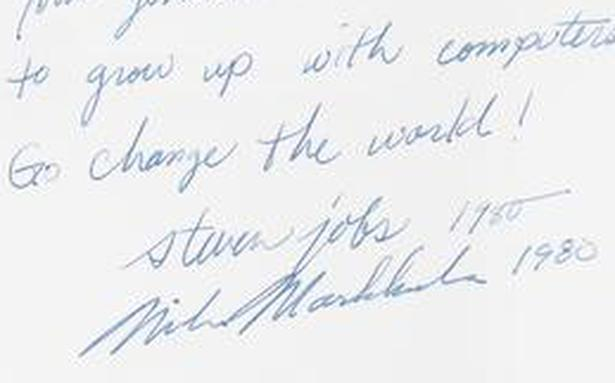 A prophetic Apple II manual, signed by Steve Jobs, sold for nearly 0,000 at auction