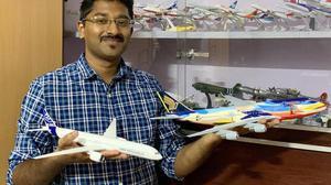 Meet Subramani Mariappan, the owner of over 115 aircraft models