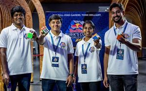Meet the four finalists of the Red Bull Rubik's Cube World Cup