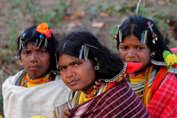 Dongria women in traditional attire in Lanjigarh