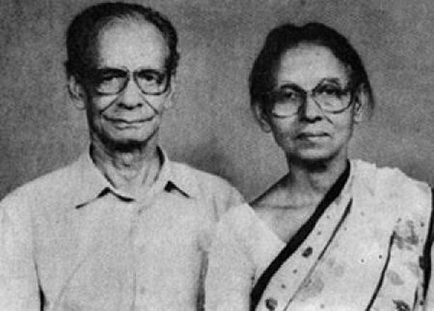 Ila with her husband Ramendranath Mitra