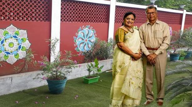 This Madurai couple promotes the art of drawing kolams
