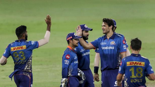 Indian Premier League 2021   Coulter-Nile, Neesham, Bumrah run through Rajasthan Royals