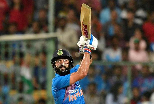 Up, up and away! Virat Kohli was in his element, making a stroke-filled 72 with six sixes.
