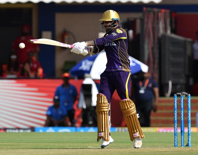Sunil Narine was back to opening the batting