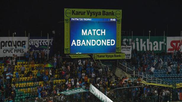 1st T20 International between India and SA abandoned due to rain