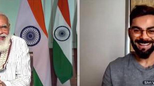Modi asks Kohli about Yo-Yo test, praises J&K woman footballer Afshan Ashiq