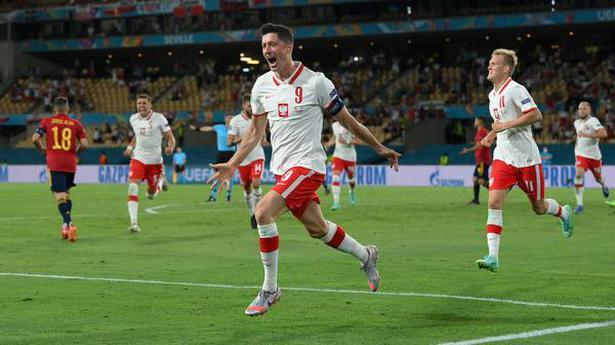 Robert Lewandowski gives Poland 1-1 draw against Spain at Euro 2020