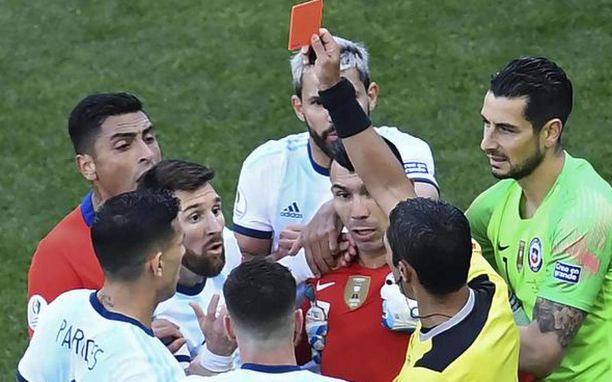 Messi Blasts Copa America Corruption After Red Card The Hindu