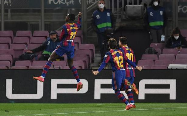 Dembele does it for Barcelona