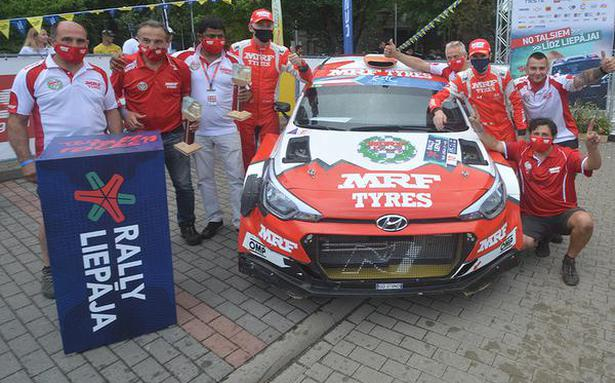 First-ever podium finish for Team MRF in ERC