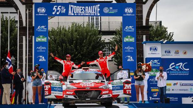 FIA European Rally | MRF Tyres team takes second place