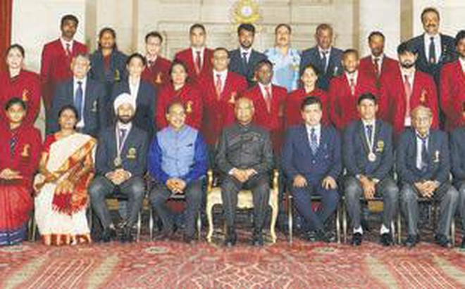 Image result for india President rewards sport