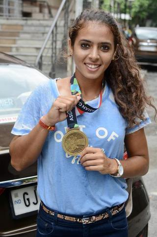 Ankita Raina with her Asian Games medal