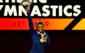 Majestic Biles extends record to 25 world gymnastics medals