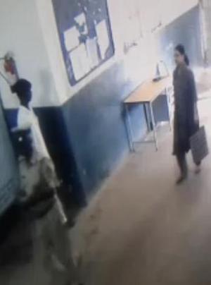 सादा कपड़ों में शशिकला हाथ में बैग लेकर जेल में दाख़िल हो रही हैं. फोटो क्रेडिट : द हिंदू