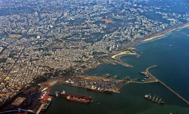The Untold StoryAn Aerial View Of Visakhapatnam Coast Inset A Shot From
