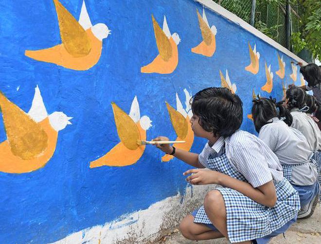 WALL aRT - IN SCHOOL - The Hindu