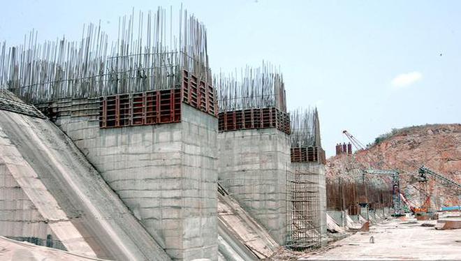 Work on Polavaram project under way in West Godavari district .A.V.G. Prasad