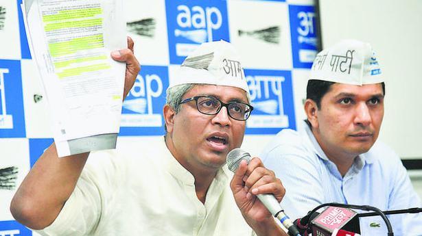 CBI after every possible Delhi Minister: AAP - NEW DELHI - The Hindu
