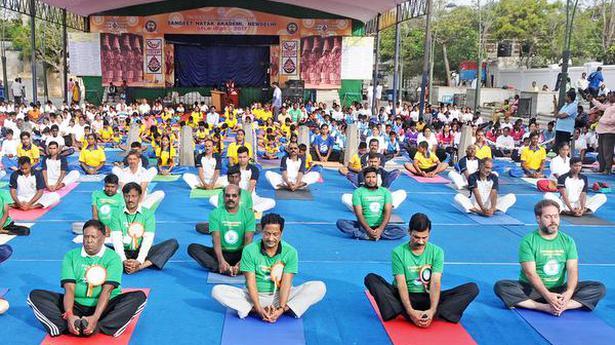 Yoga keeps me fit and active even at 70: Narayanasamy - TAMIL NADU - The Hindu