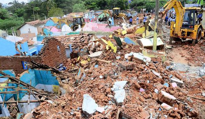 Image result for coimbatore corporation encroachment demolition