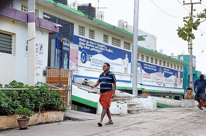 A view of the sanitary complex in Amma Mandapam in Srirangam in Tiruchi.M. Srinath