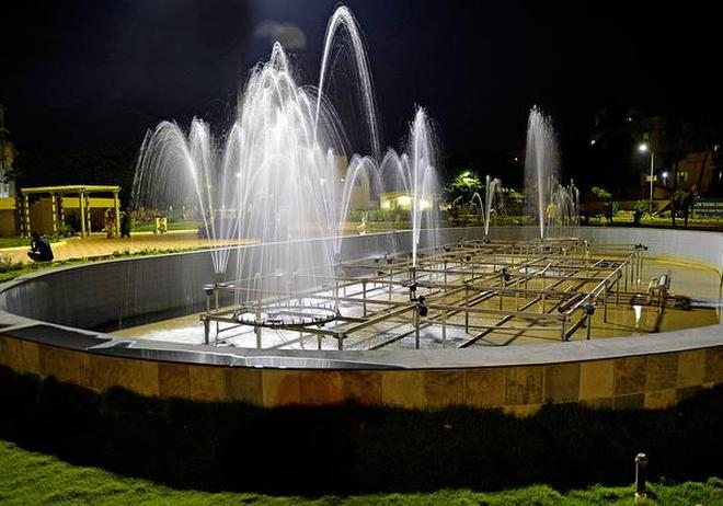 Crying for repairAn artificial fountain at the Science Park, which was opened only in June, at Anna Nagar in Tiruchi is functional only partially now apparently due to a motor malfunction.M. Moorthy