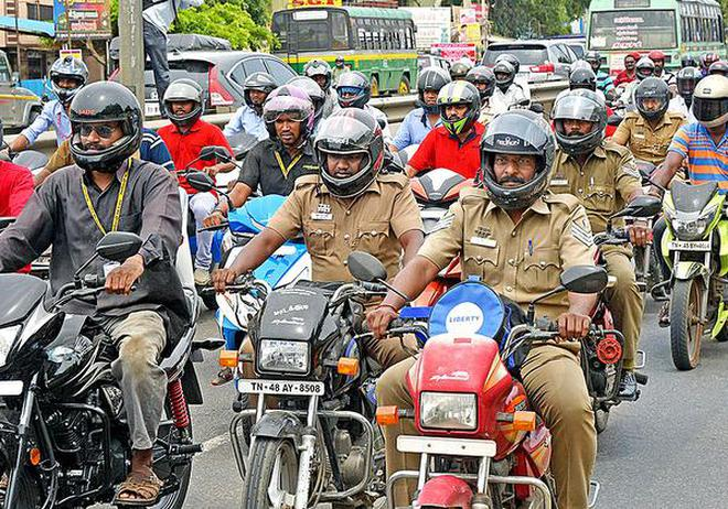 A rally to create awareness of the need to wear helmets was held near Kattur in Tiruchi on Tuesday.M. Moorthy