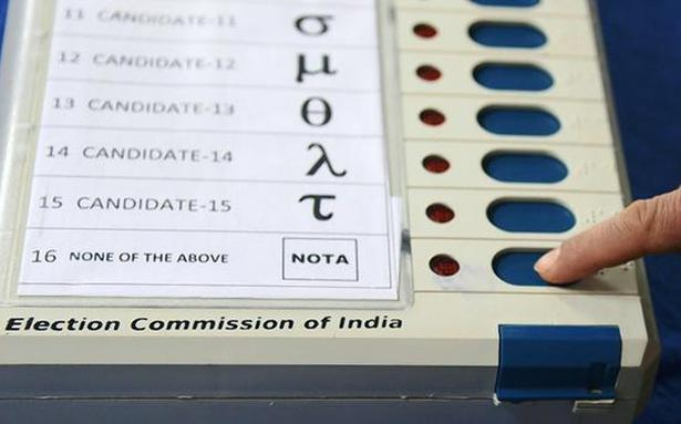 SC asks Centre, EC to respond to plea for fresh polls if most votes are NOTA - The Hindu